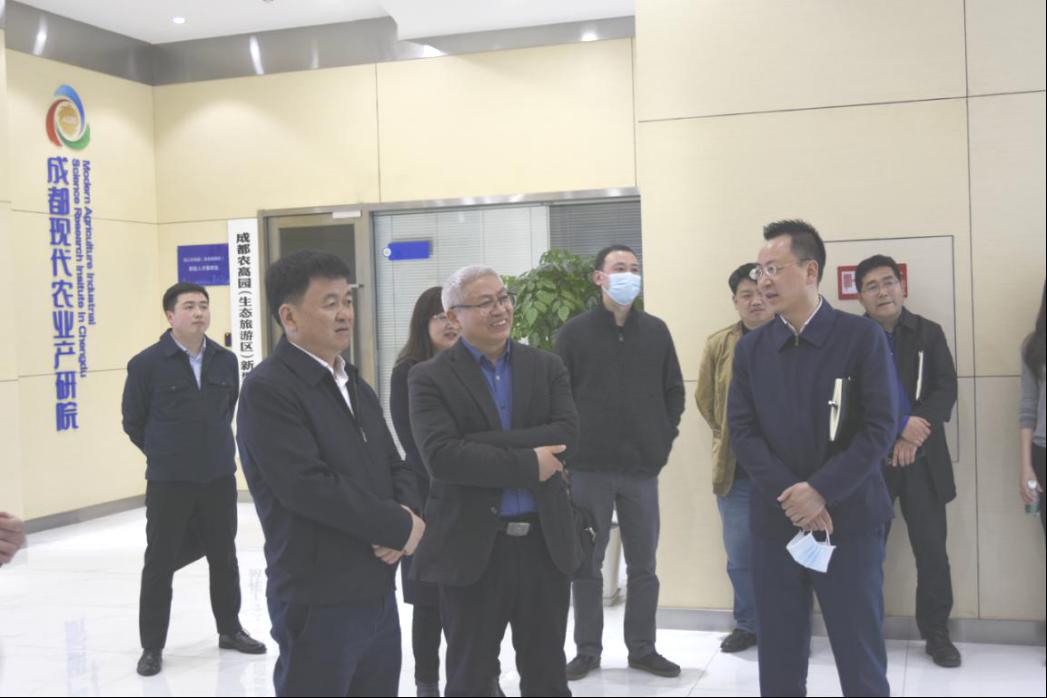 温江区委书记王道明一行调研产研院
