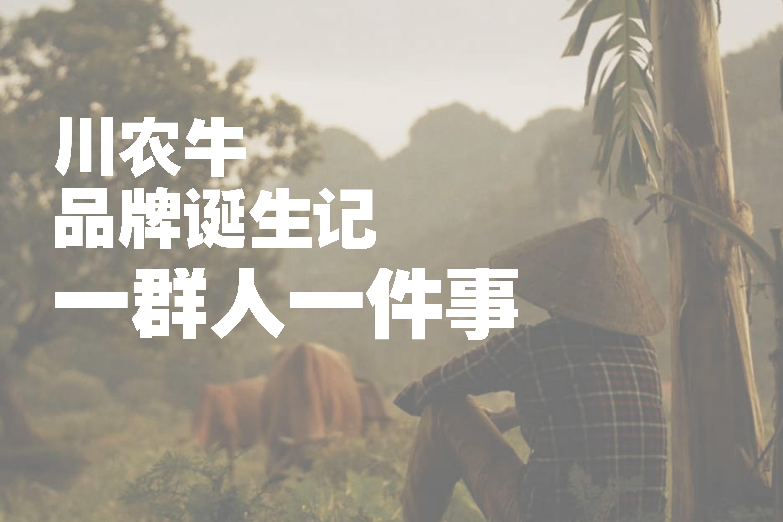 一群人一件事  川农牛品牌诞生记